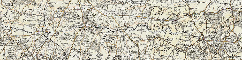 Old map of Aldern Bridge Ho in 1897-1900