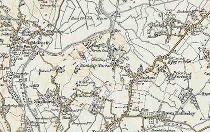 Old map of Bishop's Norton in 1898-1900