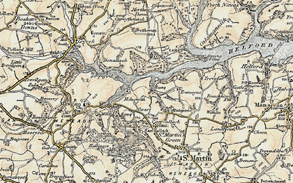 Old map of Bishop's Quay in 1900