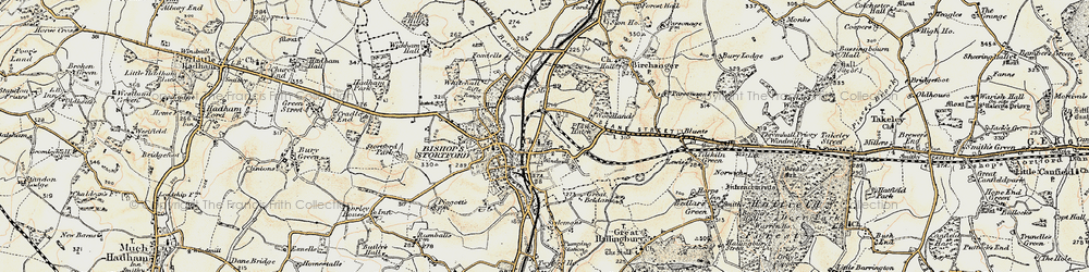 Old map of Whitehall in 1898-1899