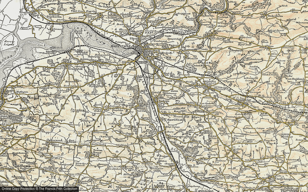 Old Map of Historic Map covering Whitemoor in 1900