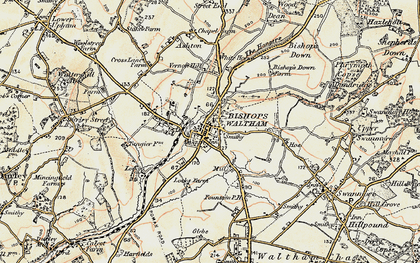 Old map of Bishop's Waltham in 1897-1900
