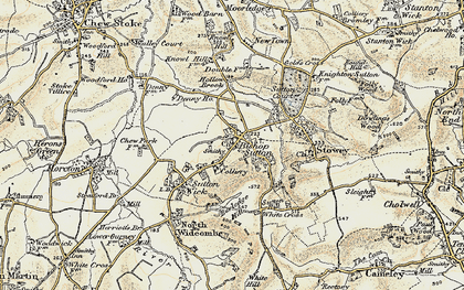 Old map of Bishop Sutton in 1899