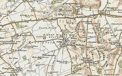 Old map of Bishop Wilton in 1903-1904