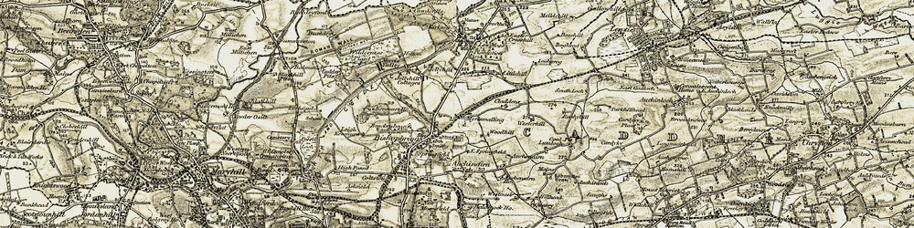 Old map of Bishopbriggs in 1904-1905