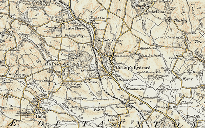 Old map of Bishops Lydeard in 1898-1900