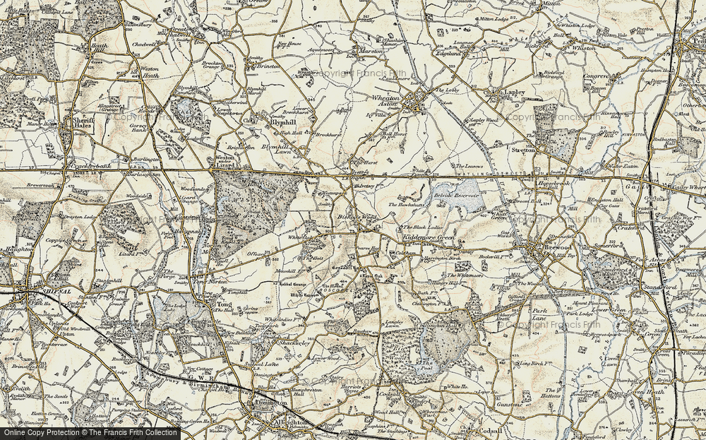 Old Map of Historic Map covering Tong Rough in 1902