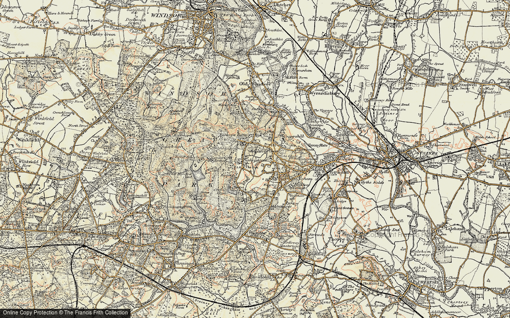 Old Map of Bishopsgate, 1897-1909 in 1897-1909