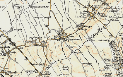 Old map of Bishopstone in 1897-1899