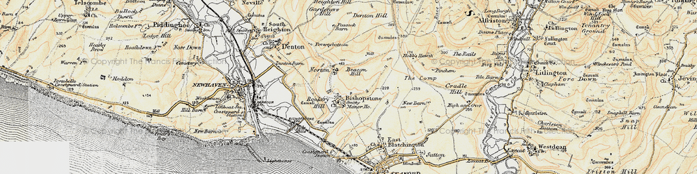 Old map of Tide Mills in 1898