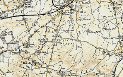 Old map of Bishopsworth in 1899