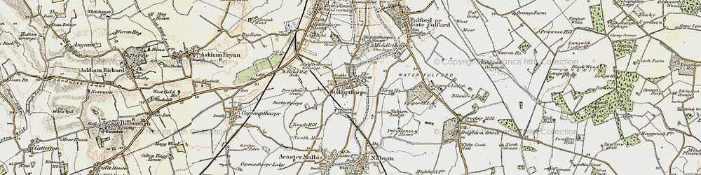 Old map of Acres Ho in 1903