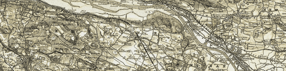 Old map of Whitemoss Dam in 1905-1906