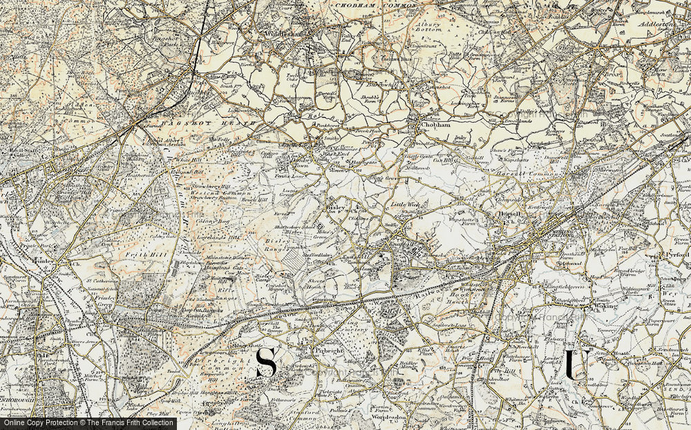 Old Map of Bisley, 1897-1909 in 1897-1909