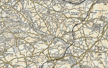 Old map of Bissoe in 1900