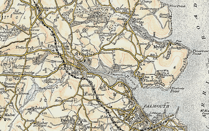 Old map of Bissom in 1900