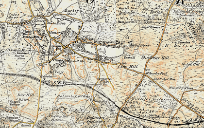 Old map of Wilverley Post in 1897-1909