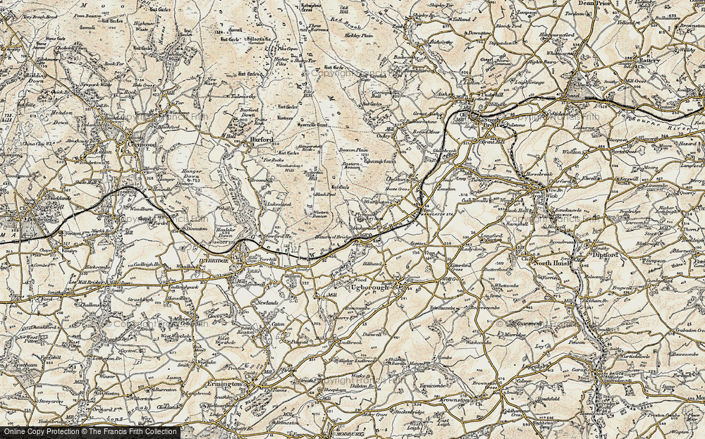 Old Map of Historic Map covering Western Beacon in 1899-1900