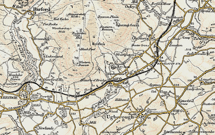 Old map of Western Beacon in 1899-1900