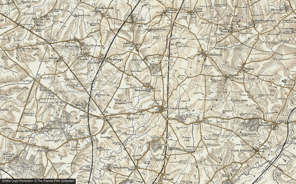 Old Map of Historic Map covering Wood Br in 1901-1902