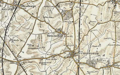 Old map of Wood Br in 1901-1902