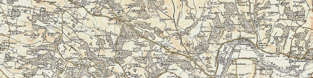 Old map of Bix in 1897-1909
