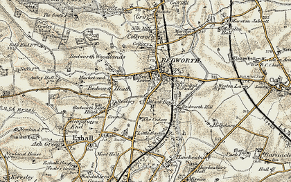 Old map of Black Bank in 1901-1902