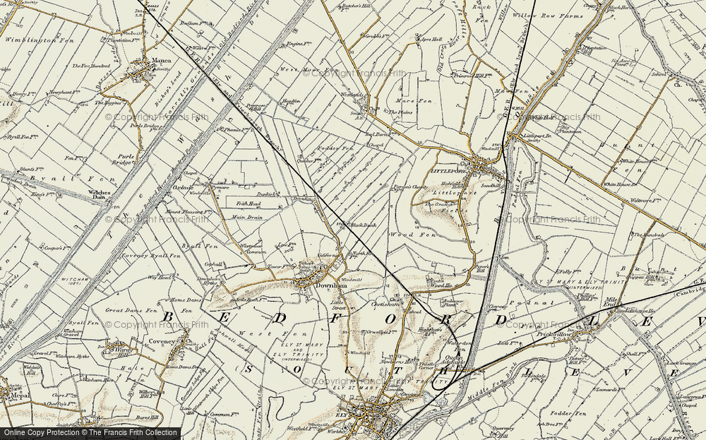 Old Map of Black Bank, 1901 in 1901
