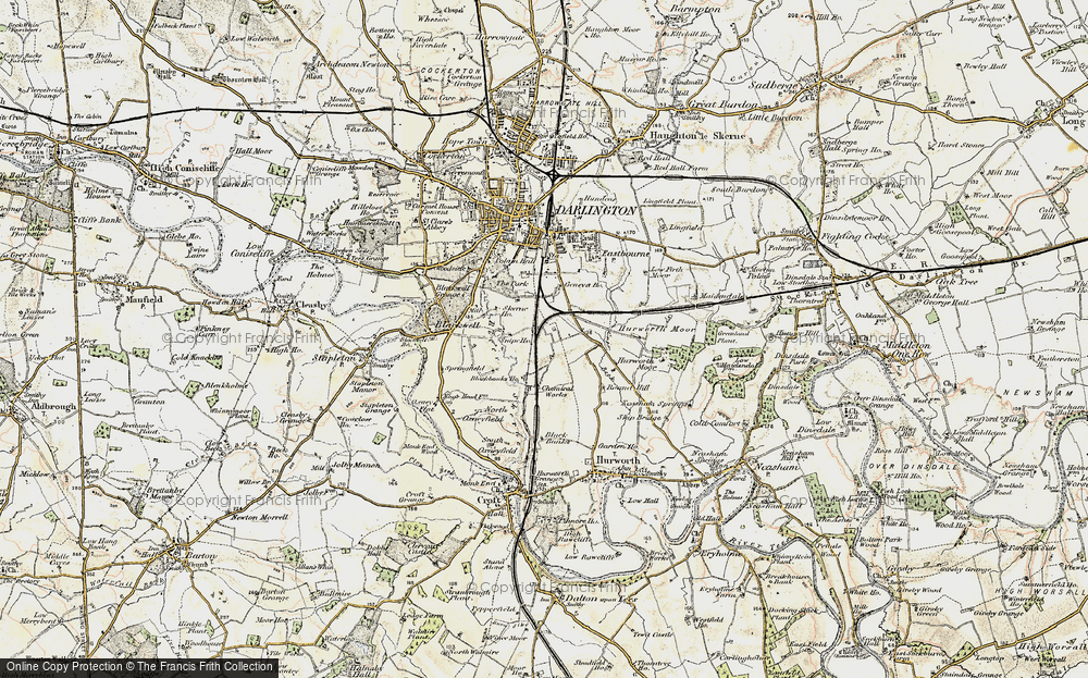 Old Map of Historic Map covering Ashfield in 1903-1904