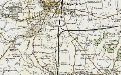 Old map of Ashfield in 1903-1904