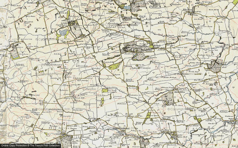 Old Map of Historic Map covering Bankfoot in 1901-1903