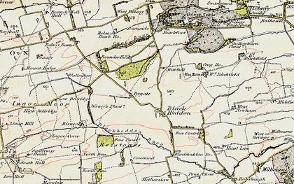 Old map of Bankfoot in 1901-1903