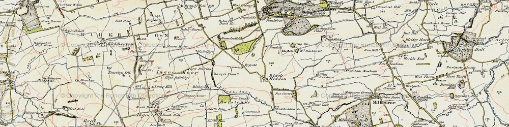 Old map of West Newham in 1901-1903