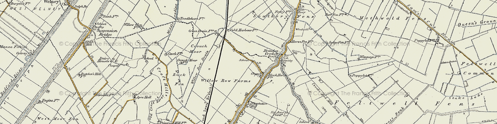 Old map of Willow Row Drain in 1901