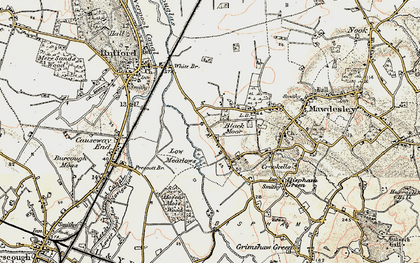 Old map of Black Moor in 1902-1903