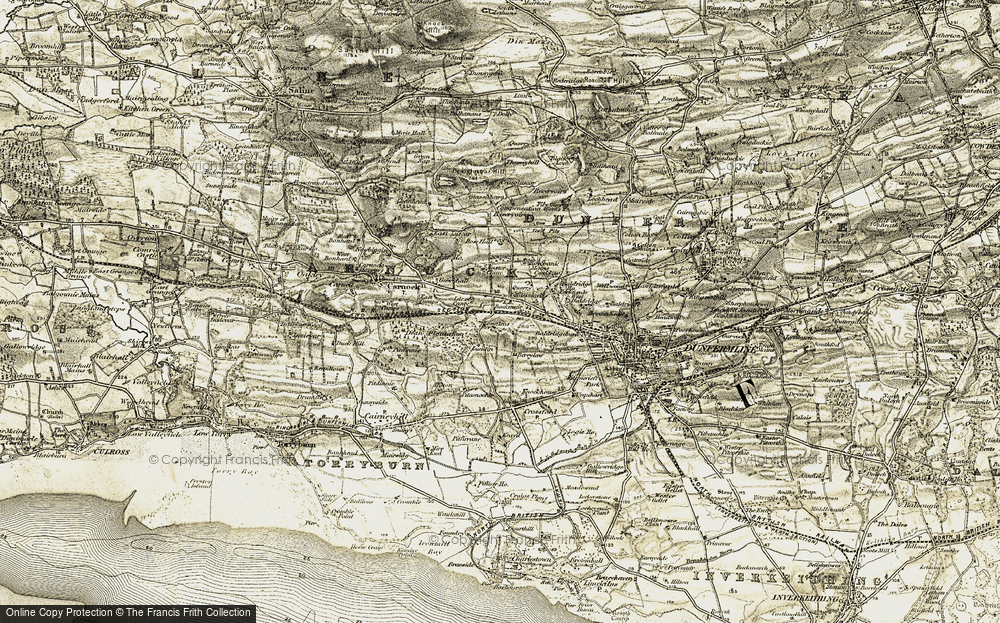 Old Map of Historic Map covering Langlees in 1904-1906