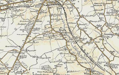 Old map of Black Notley in 1898-1899