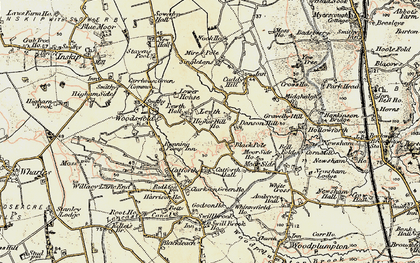 Old map of Black Pole in 1903-1904