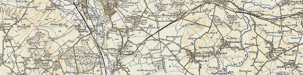 Old map of Blackbird Leys in 1897-1899