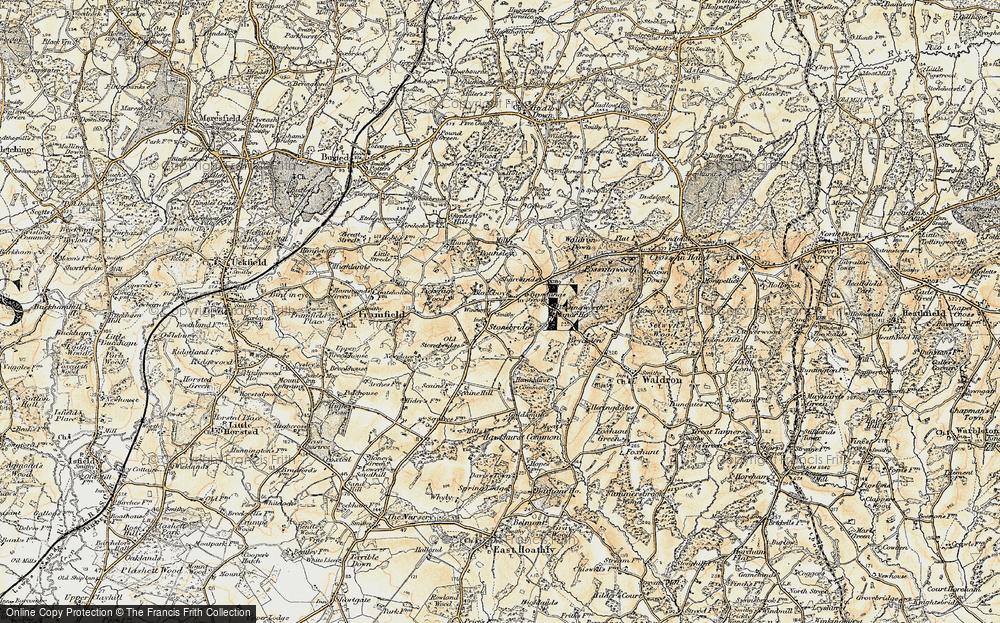 Old Map of Blackboys, 1898 in 1898