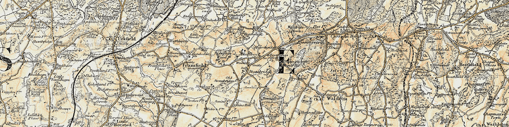 Old map of Tickerage Wood in 1898