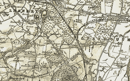 Old map of Blackburn in 1910