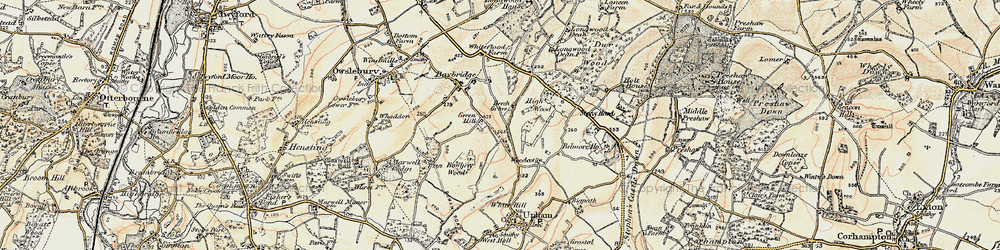 Old map of Woodcote in 1897-1900