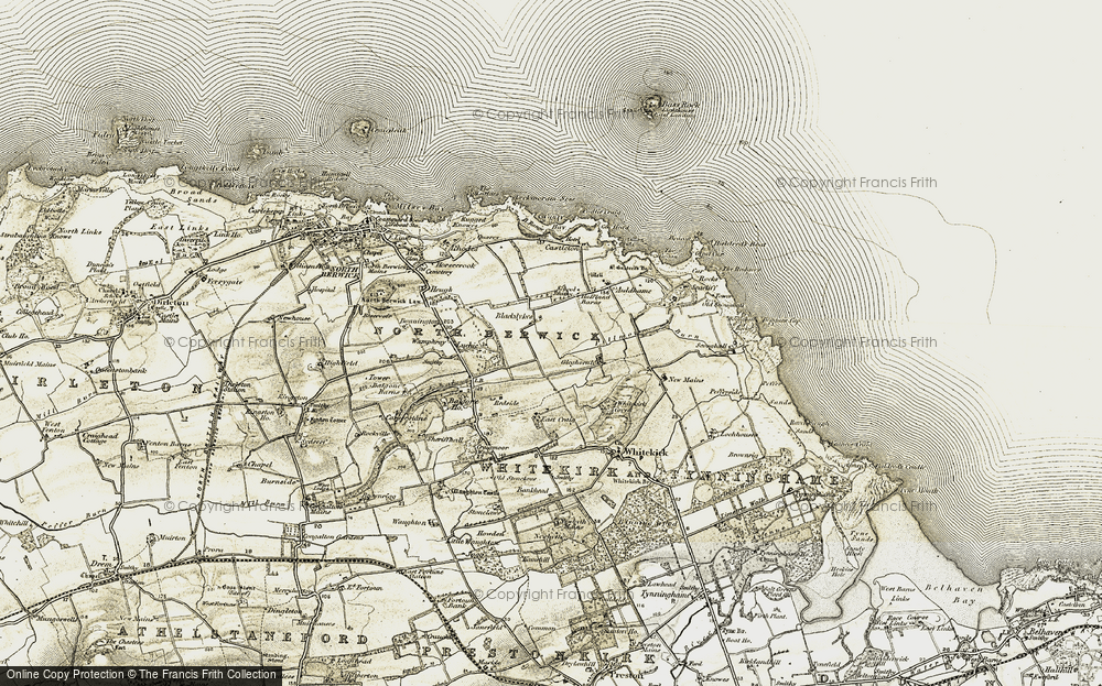 Old Map of Historic Map covering Woodlea in 1901-1906