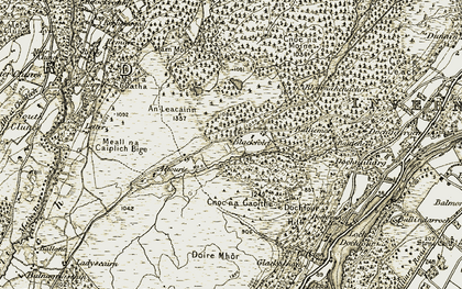 Old map of Blackfold in 1908-1912