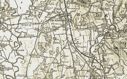Old map of Westwood in 1901-1904