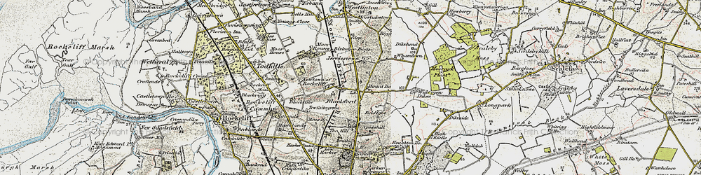 Old map of Whamtown in 1901-1904