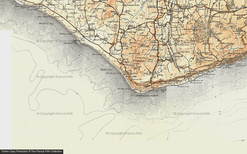 Old Map of Blackgang, 1899-1909 in 1899-1909