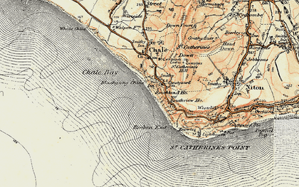 Old map of Blackgang in 1899-1909