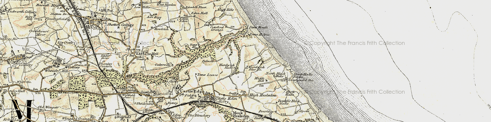 Old map of Blackhall Colliery in 1901-1904